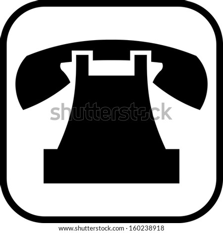 Telephone vector icon isolated  - stock vector