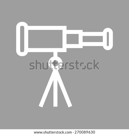 Telescope, binoculars, optical instrument icon vector image. Can also be used for communication, connection, technology. Suitable for web apps, mobile apps and print media. - stock vector