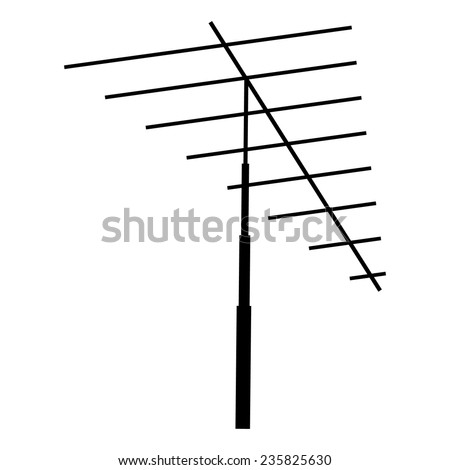 Television antenna isolated on a white background - stock vector