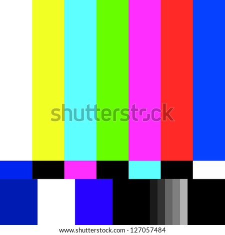 Television error on television screen - stock vector