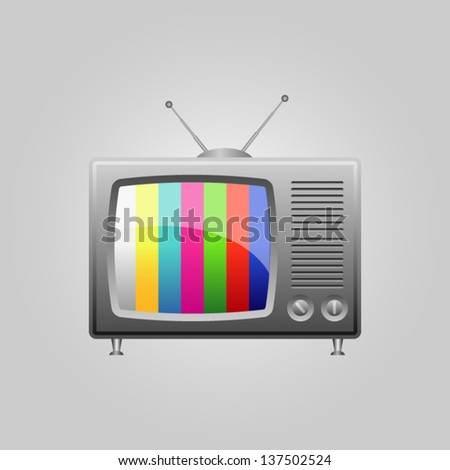 Television Icon. - stock vector