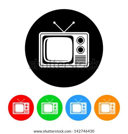 Television Icon - stock vector