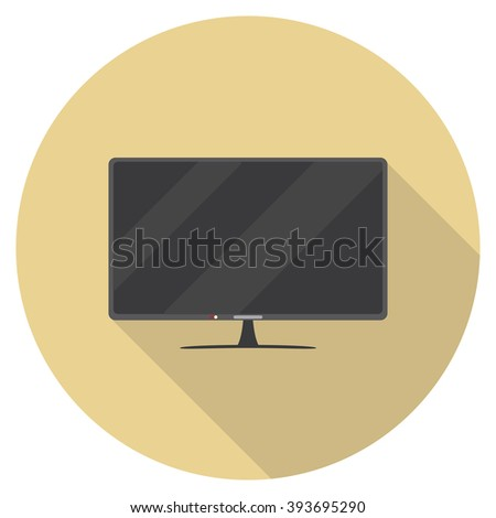 Television Icon, Modern Television , tv - stock vector