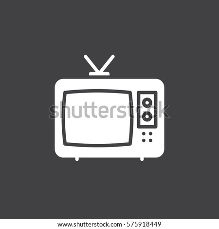 Television Icon Vector Filled Flat Sign Stock Vector 575918449