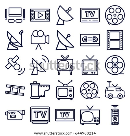 Television Icons Set Set 25 Television Stock Vector 652688671 ...