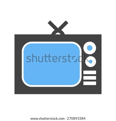 Television screen, display, broadcast icon vector image. Can also be used for communication, connection, technology. Suitable for web apps, mobile apps and print media. - stock vector