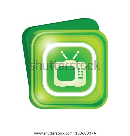 Television sign - stock vector
