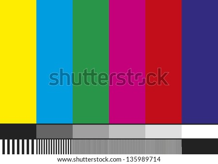 Television test pattern of stripes. Used to prove the quality of reception. - stock vector