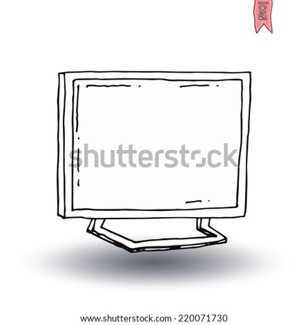 Televisions modern, vector illustration - stock vector