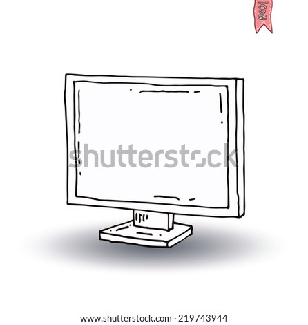 Televisions, vintage  and modern, vector illustration - stock vector
