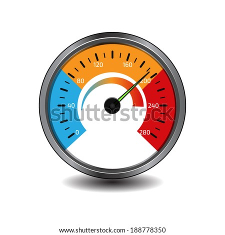 Temperature gauge used in cooking grill with the equipment - stock vector