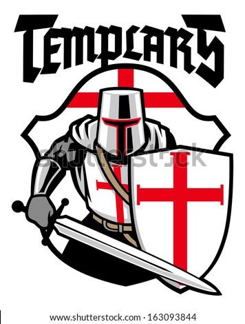 Templar knight  - stock vector