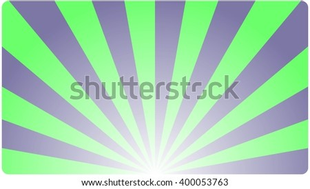 Template Background business card  with an abstract geometric design blue green rays. Vector illustration.
