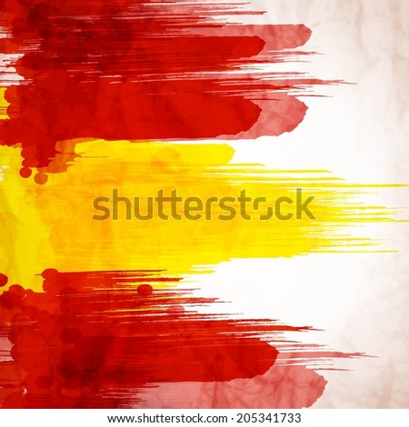 Spanish background stock images royalty free images vectors template background spanish flag made of colorful splashes voltagebd Gallery