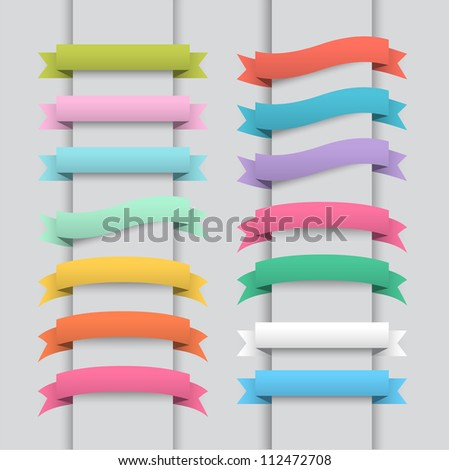 Template banner - stock vector
