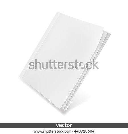 Template blank magazine. Illustration isolated on white background. Graphic concept for your design