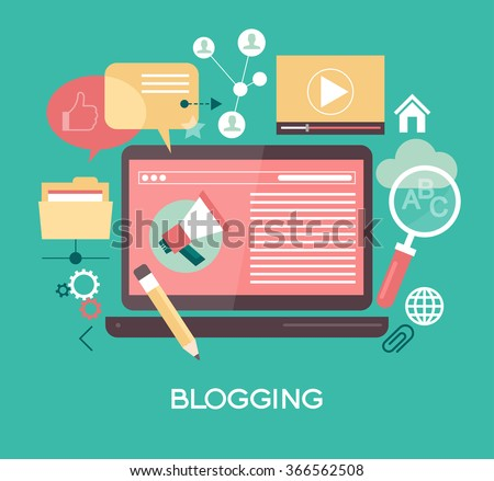 Template blogging infographics. Concept for website banners and promotional materials. File is saved in AI10 EPS version. This illustration contains a transparency - stock vector
