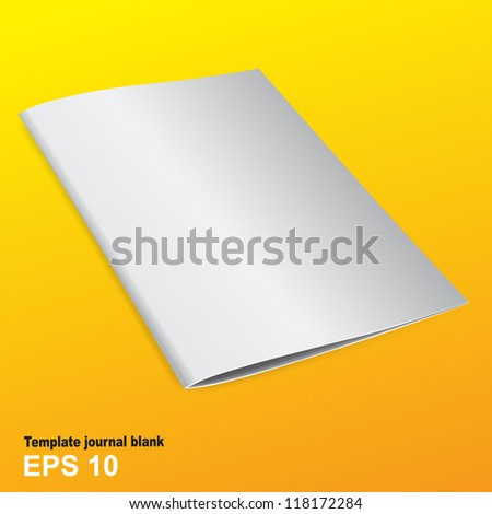Template booklet in gold against a bright background - stock vector