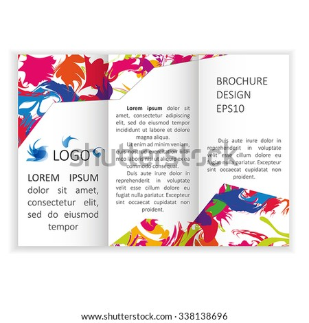 template brochure poster flyer design abstract stock vector royalty
