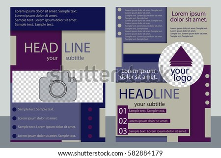Template Business Brochure Flyer Annual Report Stock Vector