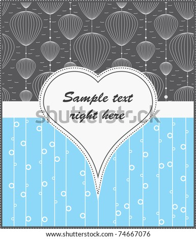 Template cards for gifts and postcards, vector illustration