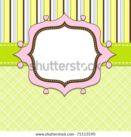 Template cards for the girl, vector illustration, eps10