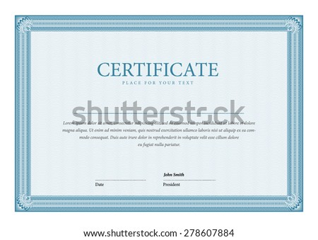 template Certificate and diplomas - stock vector