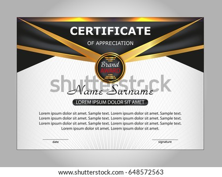 Template certificate appreciation elegant design vector stock vector template certificate of appreciation elegant design vector illustration yadclub Image collections