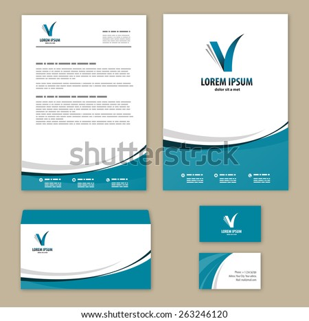 Template corporate style. Mock-up.  Company logo design. - stock vector