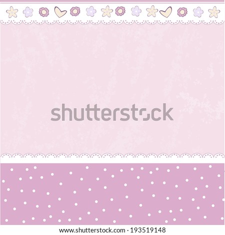 Template design for greeting card, vector illustration