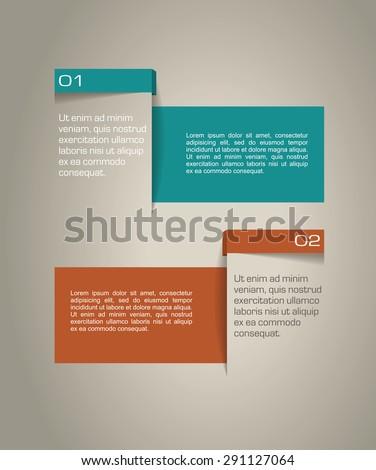 template design menu navigation elements - stock vector