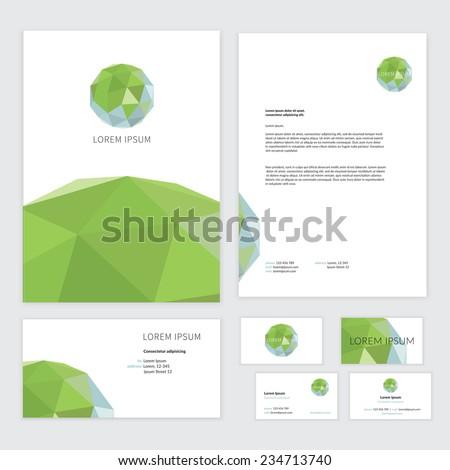 Eco Brochure Design Vector Template Corporate Vector – Editable Leaf Template