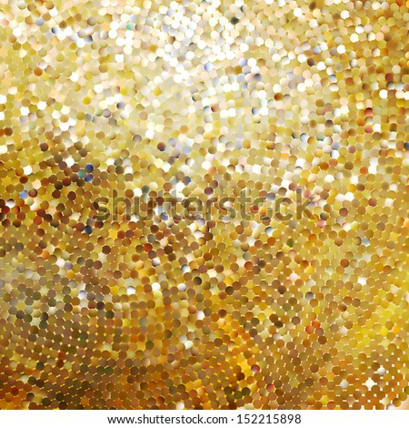 Template design on gold glittering background. EPS 10 vector file included - stock vector
