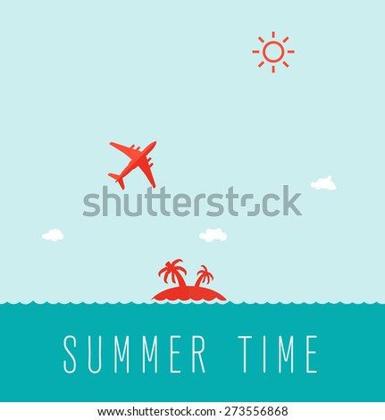 Template design vector poster for travel. - stock vector