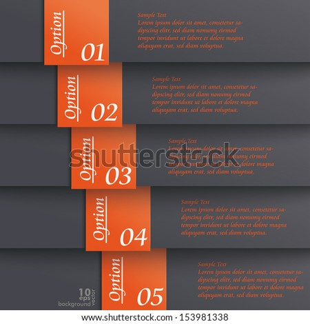 Template design with black and orange colors. Eps 10 vector file.
