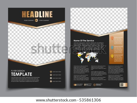 Template Flyer Black Golden Arrows Design Stock Vector 535861306 ...
