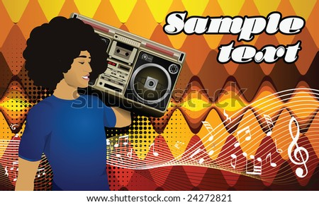Template flyer for party (others flyers in my portfolio) - stock vector