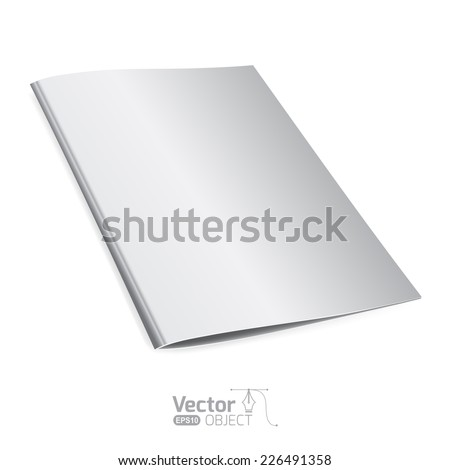 Template folder - stock vector