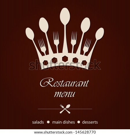 template for a restaurant menu - stock vector