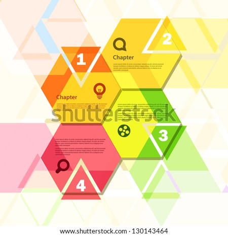 Template for a text - stock vector