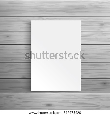Template for advertising and corporate identity. Blank folded brochure or leaflet. Blank mockup for design. Vector white object - stock vector