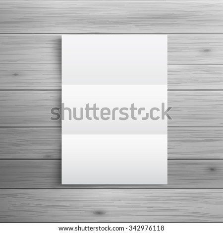 Template for advertising and corporate identity. Folded brochure or leaflet. Blank mockup for design. Vector white object - stock vector