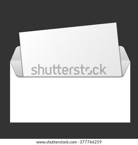 template advertising corporate identity open envelope window stock
