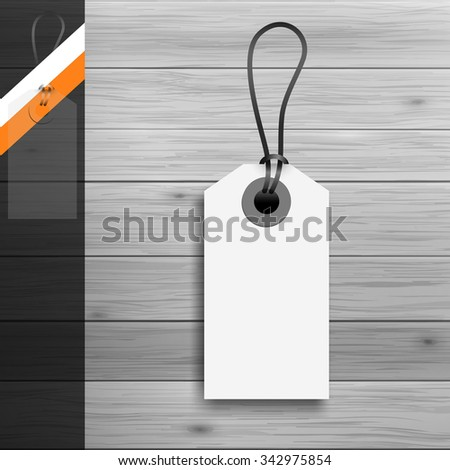 Template for advertising and corporate identity. Price tag. Blank mockup for design. Vector white object - stock vector