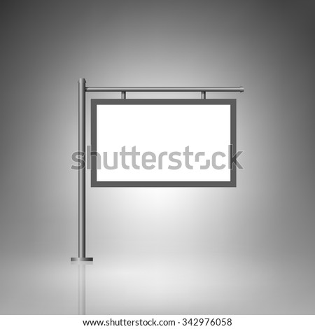 Template for advertising and corporate identity. Signage. Blank mockup for design. Vector white object - stock vector