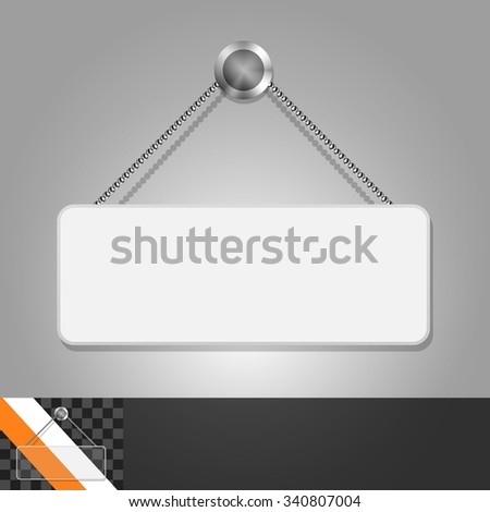Template for advertising and corporate identity. Signboard with space for text. Blank mockup for design. Vector white object - stock vector
