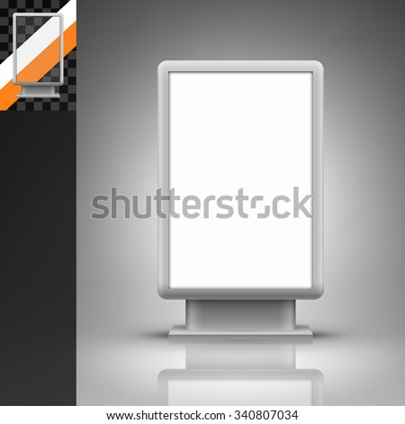 Template for advertising and corporate identity. Vertical citylight. Blank mockup for design. Vector white object - stock vector