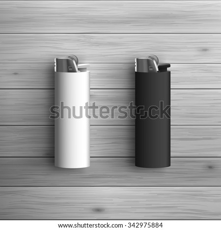 Template for advertising and corporate identity. White and black lighters. Blank mockup for design. Vector white object - stock vector