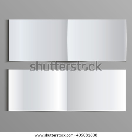Template for advertising, branding and corporate identity. Folded brochure. Blank mockup for design. Vector white object. EPS 10 - stock vector