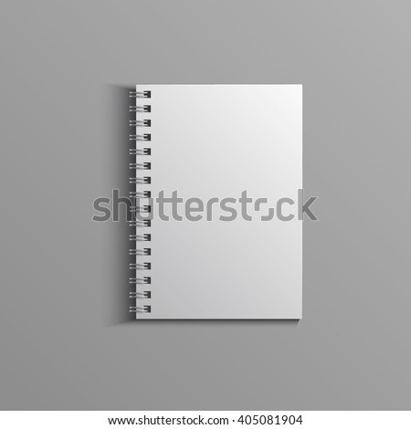 Template for advertising, branding and corporate identity. Realistic spiral notepad. Blank mockup for design. Vector white object. EPS 10 - stock vector